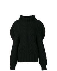Pull surdimensionné en tricot noir Aalto