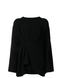 Pull surdimensionné en tricot noir Act N°1
