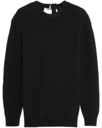 Pull surdimensionné en tricot noir Alexander Wang