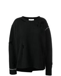 Pull surdimensionné en tricot noir Ambush