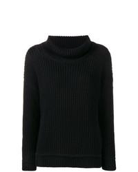 Pull surdimensionné en tricot noir Canada Goose