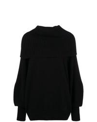 Pull surdimensionné en tricot noir Givenchy