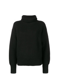 Pull surdimensionné en tricot noir Joseph