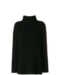 Pull surdimensionné en tricot noir Le Kasha