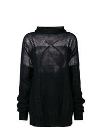 Pull surdimensionné en tricot noir Maison Margiela