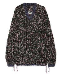 Pull surdimensionné en tricot noir MM6 MAISON MARGIELA