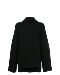 Pull surdimensionné en tricot noir Sally Lapointe