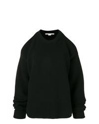Pull surdimensionné en tricot noir Stella McCartney
