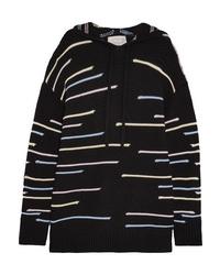 Pull surdimensionné en tricot noir Victor Glemaud