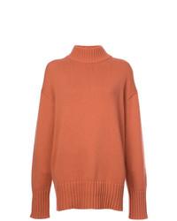 Pull surdimensionné en tricot orange Proenza Schouler