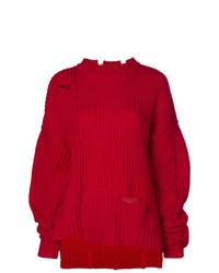 Pull surdimensionné en tricot rouge Ambush