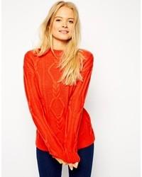 Pull surdimensionné en tricot rouge Asos