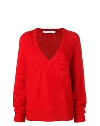 Pull surdimensionné en tricot rouge IRO