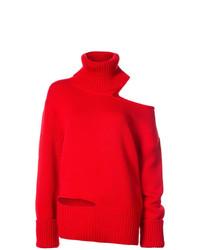 Pull surdimensionné en tricot rouge Monse