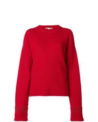 Pull surdimensionné en tricot rouge Stella McCartney