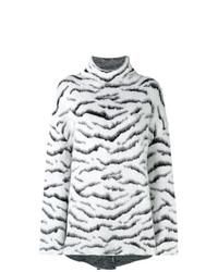 Pull surdimensionné imprimé noir et blanc Givenchy