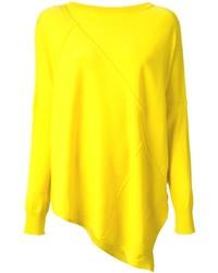 Pull surdimensionné jaune