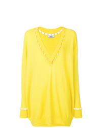 Pull surdimensionné jaune Givenchy