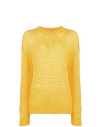 Pull surdimensionné jaune Prada