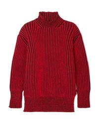 Pull surdimensionné rouge Balenciaga