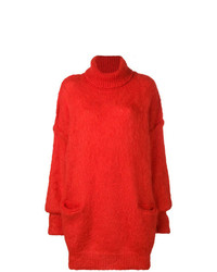 Pull surdimensionné rouge Maison Margiela