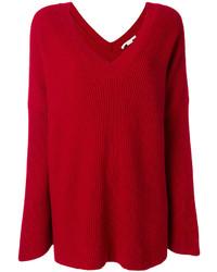 Pull surdimensionné rouge Stella McCartney