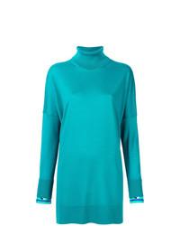 Pull surdimensionné turquoise Emilio Pucci