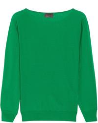 Pull surdimensionné vert Lanvin