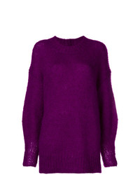 Pull surdimensionné violet Isabel Marant