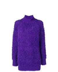 Pull surdimensionné violet Marni