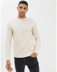 Pull torsadé beige Burton Menswear