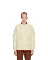 Pull torsadé beige Levis Vintage Clothing