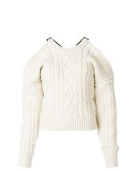 Pull torsadé blanc Calvin Klein 205W39nyc