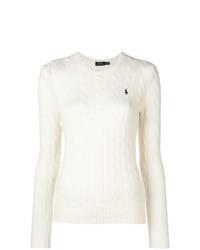 Pull torsadé blanc Polo Ralph Lauren