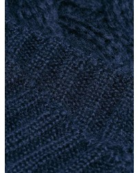 Pull torsadé bleu marine Prada