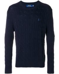 Pull torsadé bleu marine Polo Ralph Lauren