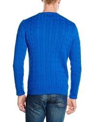 Pull torsadé bleu Gant