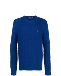 Pull torsadé bleu Polo Ralph Lauren
