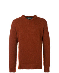 Pull torsadé bordeaux DSQUARED2
