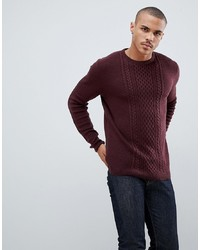 Pull torsadé bordeaux Tom Tailor