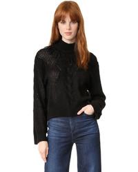 Pull torsadé en tricot noir Tanya Taylor