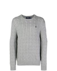 Pull torsadé gris Polo Ralph Lauren