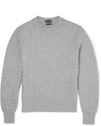 Pull torsadé gris Tom Ford
