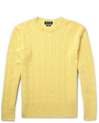 Pull torsadé jaune Polo Ralph Lauren