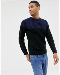 Pull torsadé multicolore Burton Menswear