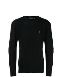 Pull torsadé noir Polo Ralph Lauren