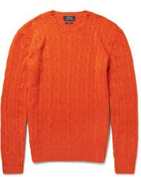 Pull torsadé orange