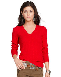Pull torsade rouge original 1334499