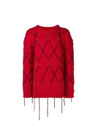 Pull torsadé rouge Calvin Klein 205W39nyc
