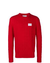 Pull torsadé rouge Calvin Klein Jeans